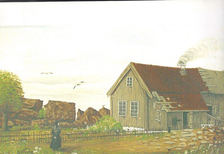 Huset til familien Eriksen på ildverket